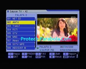 Freq Baru ANTV 3827 H 3200 on Palapa D Agustus 2017