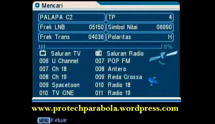 cara setting dan program receiver parabola | Protech Parabola ™