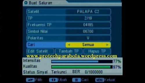 cara setting receiver parabola | index