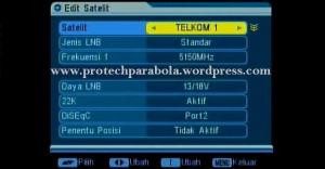 8 cara edit parameter satelit telkom 1