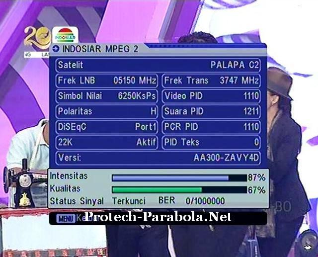 Freq Lama Indosiar Mpeg2 3747 H 6250 Palapa D