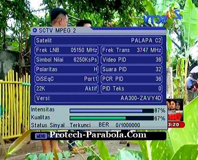 Freq Baru SCTV Mpeg2 3747 H 6250 Palapa D