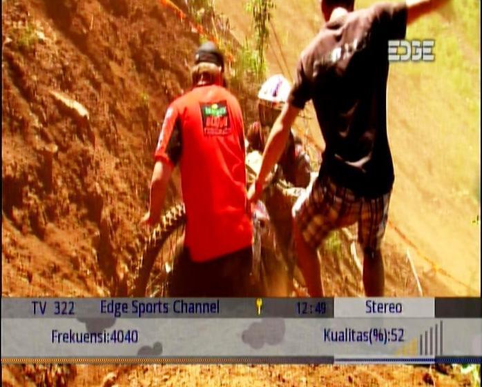 Channel EDGE SPORT @ ASIASAT 5 dengan RECEIVER SKYNINDO HD77