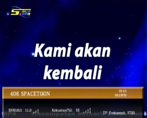 Freq Baru SPACETOON TV on Sat TELKOM 1 | Protech Parabola ™