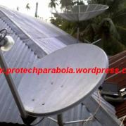 Gambar LNB KU Band Offset dengan Dish Pay TV
