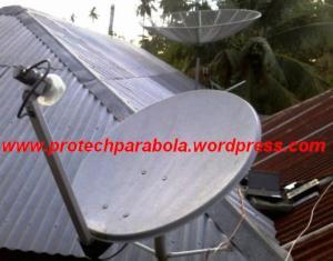 Gambar LNB KU Band Offset dengan Dish Pay TV
