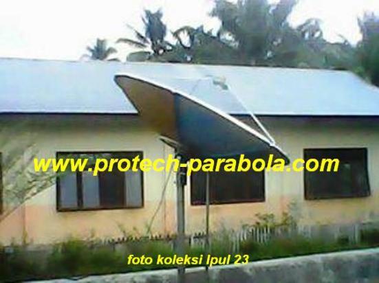 1 parabola mengarah ke posisi timur 124 e