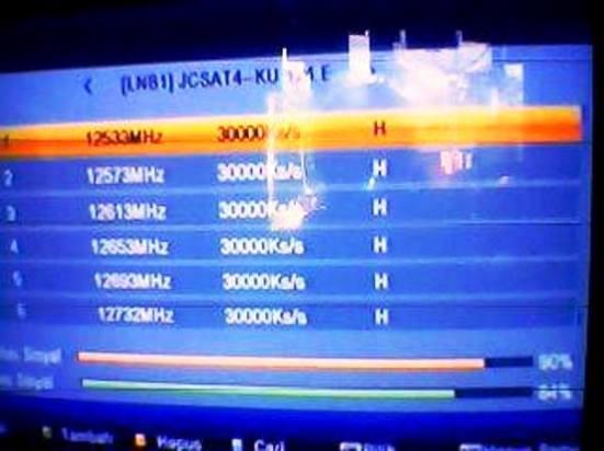 2 daftar freq transponder jc sat 4b ku band