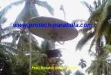 Gambar Modifikasi Dish Indovision/Okevision/TOP TV dengan Mounting BekasParabola