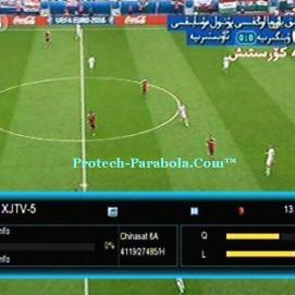 Channel EURO 2016 Sat Chinasat 6A - XJTV 5 Freq 4120 H 27500 Mpeg2-FTA