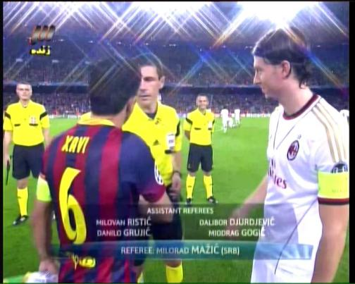 SCC TV3 AC MILAN VS BARCA