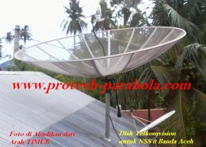 5 Posisi Parabola di Telkom 1 dan Posisi Dish Telkomvision untuk Sat NSS 6