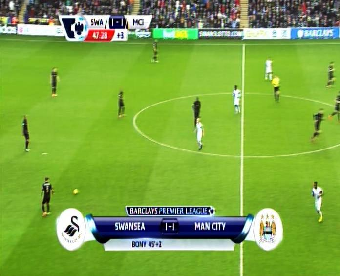 EPL - MANCHESTER CITY vs SWANSEA CITY on Chinasat 10 Freq 3660 V 6200
