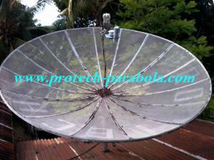 Dish Asahi 10 feet dengan 3 LNB C Band Posisi Palapa D
