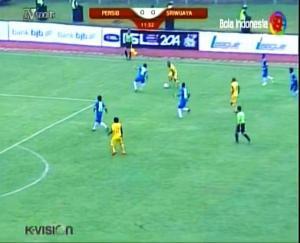 1 ISL - PERSIB vs SRIWIJAYA on Ch BOLA INDONESIA Freq 3600 V 31000 Sat PALAPA D at 113,0°E