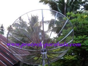 18 Arah Parabola ke satelit YAMAL 202 terhalang Pohon kelapa
