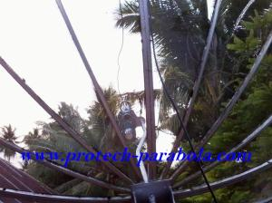 19 Arah Parabola ke satelit YAMAL 202 terhalang Pohon kelapa