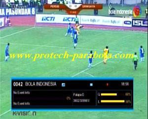 ISL - PERSIB vs SRIWIJAYA on Freq 3600 V 31000 Sat PALAPA D at 113,0°E