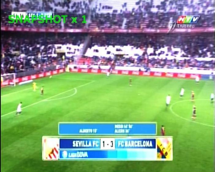 Liga BBVA - SEVILLA FC vs FC BARCELONA on THE THAO Freq 3433 V 13600 @ VINASAT 1