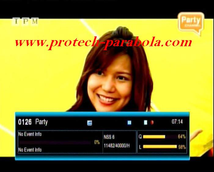 Party TV Freq 11482 H 40000 on NSS 6 - SES 8