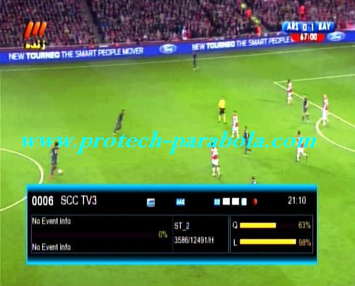 Liga Champions on SCC TV3 Freq 3586 H 12500 @ ST 2 C Band