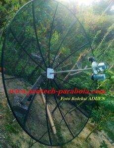 Skalar Ring - Bracket - Dudukan untuk 3 LNB terpasang pada parabola mesh - jaring