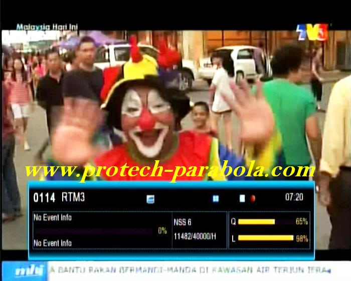 TV 3 Malaysia Freq 11482 H 40000 on NSS 6 - SES 8