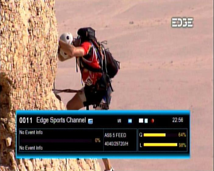 EDGE SPORTS HD Ch on Freq 4040 H 29720 @ Asiasat 5