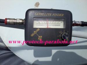 Setting Level VU Meter Satelit Finder Pada Posisi Signal Minimum