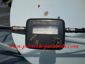 Signal Meter Satelit Finder tanda sudah Lock Signal Satelit