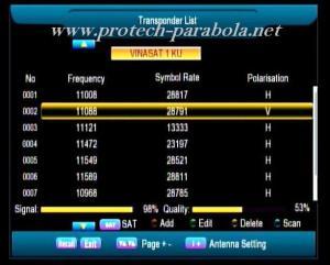 SQ Freq 11088 V 28800 Sat Vinasat 1-2 KU Band