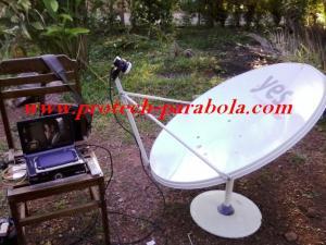 Tracking NSS 6 - SES 8 dengan Dish Telkomvision, Photo dari TIMUR, Lokasi Banda Aceh