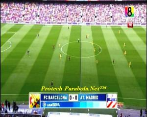 BARCELONA 0 vs 0 AT MADRID on CH8 HD at Thaicom 5