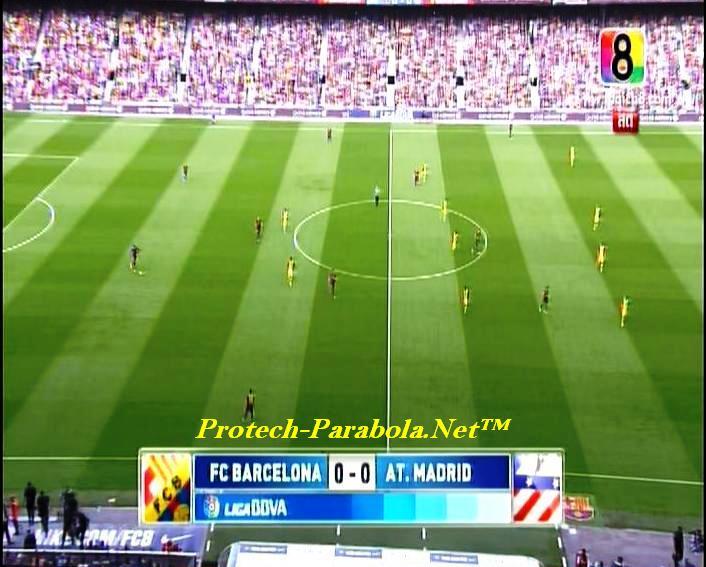 BARCELONA 0 vs 0 AT MADRID on CH8 HD at Thaicom 5