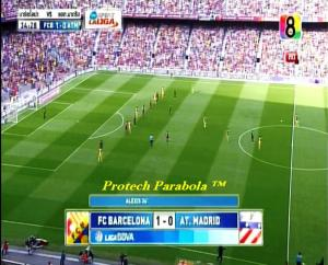 BARCELONA 1 vs 0 AT MADRID on CH8 HD at Thaicom 5