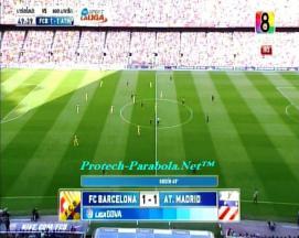 BARCELONA 1 vs 1 AT MADRID on CH8 HD at Thaicom 5