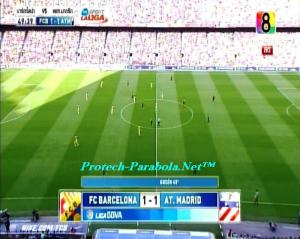 BARCELONA 1 vs 1 AT MADRID on CH8 HD at Thaicom 5