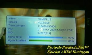 FILM PLUS HD on SES 8 dengan dish solid 6 + Modif kerucut