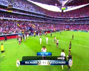Final Liga Champions REAL MADRID 0 vs 1 ATLETICO MADRID Half Time