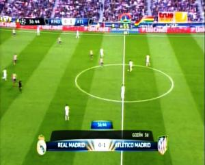 Final Liga Champions REAL MADRID 0 vs 1 ATLETICO MADRID Menit ke 36