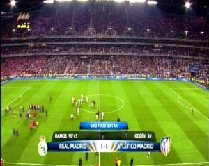Final Liga Champions REAL MADRID 1 vs 1 ATLETICO MADRID End First Extra Time