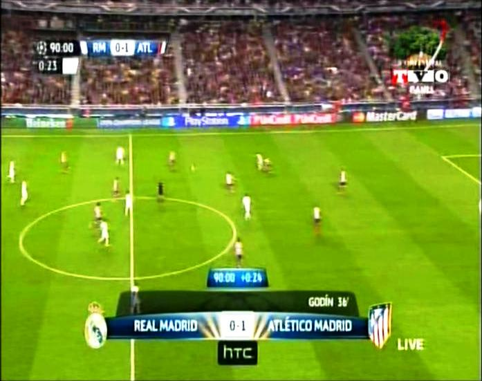 Final Liga Champions REAL MADRID 1 vs 1 ATLETICO MADRID Menit ke 90
