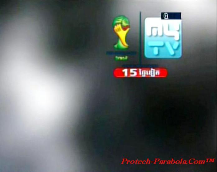 MYTV on Apstar 6 Channel Piala Dunia 2014