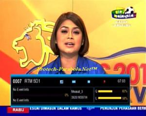 RTM 1 - TV1 Malaysia on Measat 3-3A Channel Piala Dunia 2014