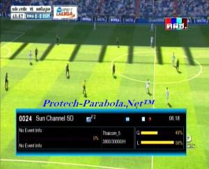Sun Channel SD on Freq 3800 H 30000 at Thaicom 5