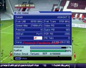 Freq Terkuat Satelit Asiasat 5 3760 H 27500 beIN Global JSC Global