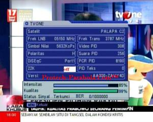Freq Terkuat Satelit Palapa D 3787 H 5632 - TV ONE