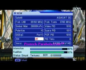 Freq Termuat Satelit Asiasat 7 3760 H 26000 NOW TV