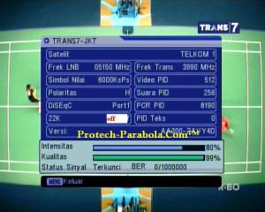 Freq Terkuat Satelit Telkom 1 3990 H 6000 TRANS 7