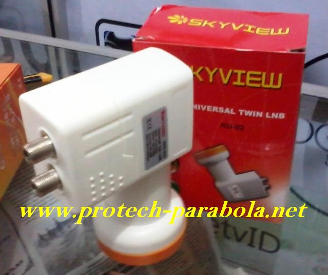 LNB KU Band SKYVIEW Model KU-02 Dual Out